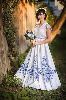 Sukne - Dlhá kruhová sukňa (Vajnorský ľudový ornament zo Slovenska) - 10995195_