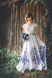 Sukne - Dlhá kruhová sukňa (Vajnorský ľudový ornament zo Slovenska) - 10995196_