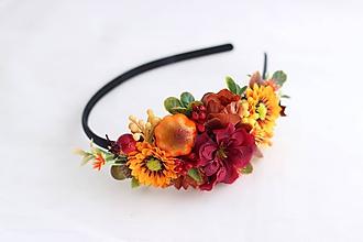 Ozdoby do vlasov - Čelenka v jesenných farbách3 - 10995613_