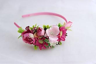 Ozdoby do vlasov - Čelenka v ružovom4 - 10995616_