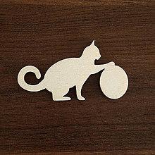 Polotovary - Výrez mačičky s loptičkou - 10997792_