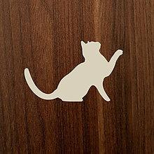Dekorácie - Jednoduchá silueta zvedavej mačičky - 10997943_