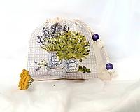 Úžitkový textil - vrecúško na bylinky - 10995918_