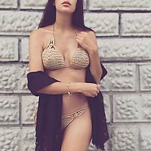 Bielizeň/Plavky - Háčkované plavky Aténa Gold - 10997072_