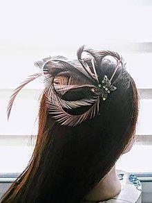 Ozdoby do vlasov - Fascinátor z peria - 10997320_