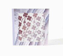 Papiernictvo - Letná lúka plná kvetov - folk vyšívaný pozdrav - 10997243_