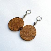 Náušnice - Drevené náušnice visiace - dubové rezy - 10996475_
