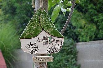 Drobnosti - Domček zelená strecha - 10999280_