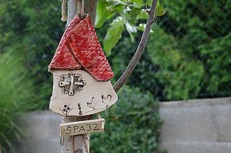 Drobnosti - Domček červená strecha - 10999287_