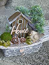 Dekorácie - Dekorácia s keramickým vtáčikom - 10998160_
