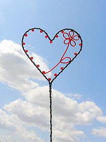 Dekorácie - maľujem ti kvety do srdca...zápich - 10998774_