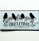 Pomôcky/Nástroje - Šablóna Stamperia - 12x25 cm - welcome, vtáčiky - 10998653_