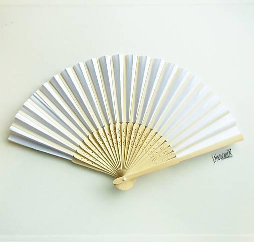 Papierový vejár k pomaľovaniu,biely,  21x36 cm