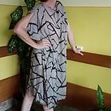 Midi šaty cikcak