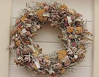 Dekorácie - Jesenný prírodný veniec vintage - 10999337_