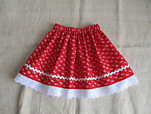 Detské oblečenie - Detská suknička folk,červená - 10999120_