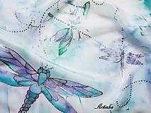 Šál hodvábny - prelet vážky