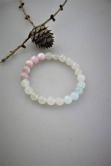 Náramky - kunzit,akvamarín mesačný jadeit - meditačný náramok - 10999279_