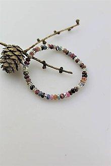 Náramky - zafír s rubínom náramok - 11000294_