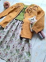 Detské oblečenie - Horčicový kardigán - 10999519_