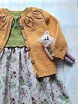 Detské oblečenie - Horčicový kardigán - 10999520_