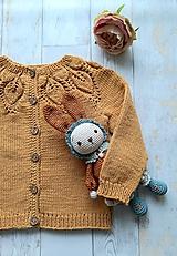Detské oblečenie - Horčicový kardigán - 10999522_
