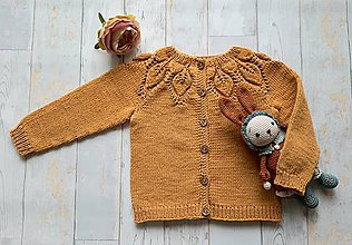 Detské oblečenie - Horčicový kardigán - 10999521_
