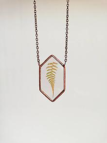 Náhrdelníky - Náhrdelník papraďový ( nepravidelný 6-uholník) - 10999013_