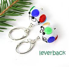 Náušnice - Vianočná girlanda náušnice /l-111 (zapinanie leverback) - 10999321_