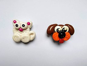 Magnetky - Magnetky psík a mačička - 10998709_