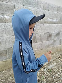 Detské oblečenie - Detská mikina - moonrise street creew dusty blue - 10999531_