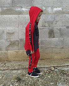 Detské oblečenie - Detské tepláky - moonrise street crew red - 10999539_