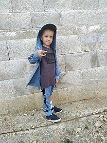 Detské oblečenie - Detské tepláky - moonrise street crew dusty blue - 10999558_
