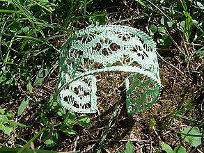 Náramky - Náramok, paličkovaná čipka, zelený - 10999468_