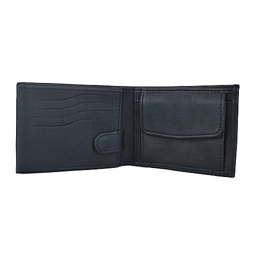 Pánska peňaženka z pravej hrubkovanej kože v čiernej farbe