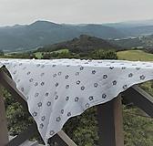 Šatky - Veľká bavlnená šatka_ kvietky - 10999038_