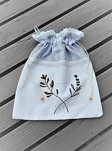 Úžitkový textil - Ľanové vrecúško vintage_ ručne maľované - 10998617_