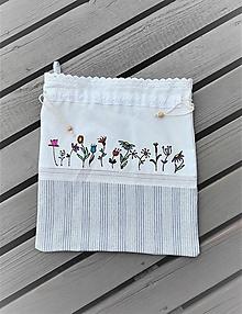 Úžitkový textil - Ľanové vrecúško vintage_ ručne maľované II. - 10998624_