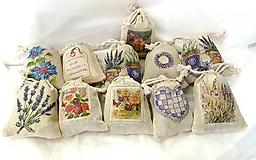 Úžitkový textil - Levanduľové vrecúška - 10998908_
