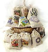 Úžitkový textil - Levanduľové vrecúška - 10998909_