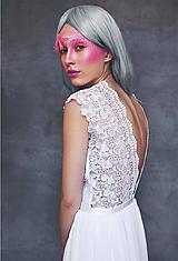 Šaty - Svadobné šaty z hrubej krajky a šifónu - 11000253_