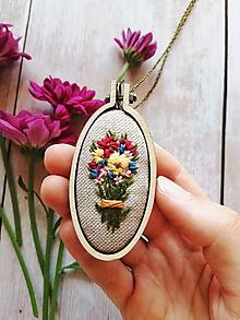 Náhrdelníky - Velká kvetinové kytica - 10999058_