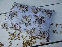 Úžitkový textil - malý špaldový nahrievací vankúš-kvet - 10999668_