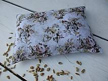 Úžitkový textil - malý špaldový nahrievací vankúš-kvet - 10999669_