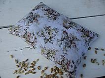 Úžitkový textil - malý špaldový nahrievací vankúš-kvet - 10999673_