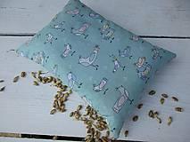 Úžitkový textil - malý špaldový nahrievací vankúš-zelený - 10999691_