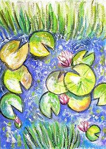 Obrazy - Lekná - akvarelový obraz - 11000002_