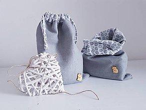 Taštičky - Bubi desiatové vrecká gray - 11000301_