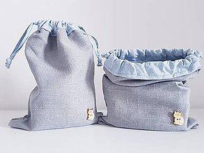 Taštičky - Bubi desiatové vrecká gray II. - 11000326_