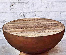 Nábytok - Okrúhly konferenčný stolík - Bronzová - 10998750_